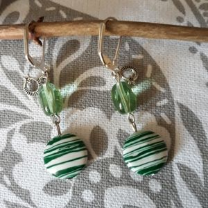 Crystal and Natural Stone Earrings